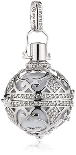 Engelsrufer Women's Pendant 925 Silver Rhodium-Plated Zirconia White - It/01 Zirconia/L