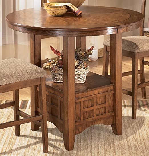 Signature Design by Ashley Cross Island Casual Dining Room Set with Dining Table and 2 x Bar Stool