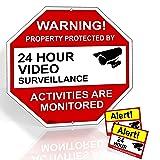 Video Surveillance Sign From Aluminum 12