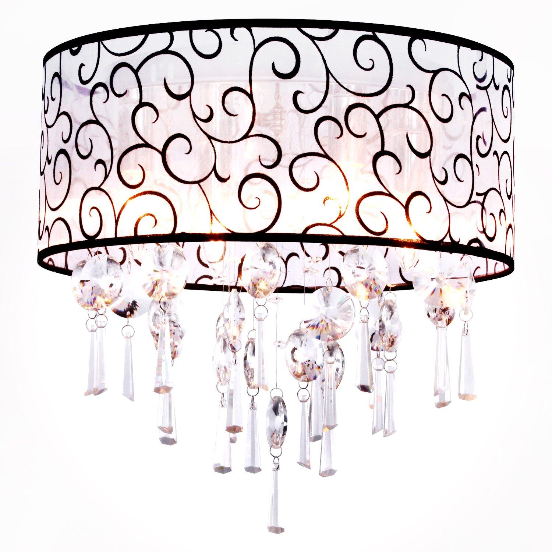 elegante Kristall Kronleuchter mit 4 Lampen