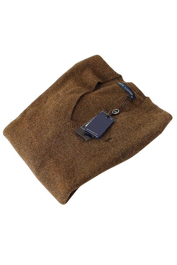 Ralph Lauren Brown Wool Blend Women's V-Neck Sweater Size Xs US Regular