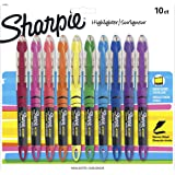 Sharpie Liquid Highlighters, Chisel Tip, Assorted Colors, 10 Count (Color: Assorted Colors, Tamaño: 10-Count)