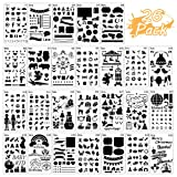 26 Packs Stencils for Journal and Diary DIY Drawing Stencils, Greeting Card Template (Color: Stencils Sets)