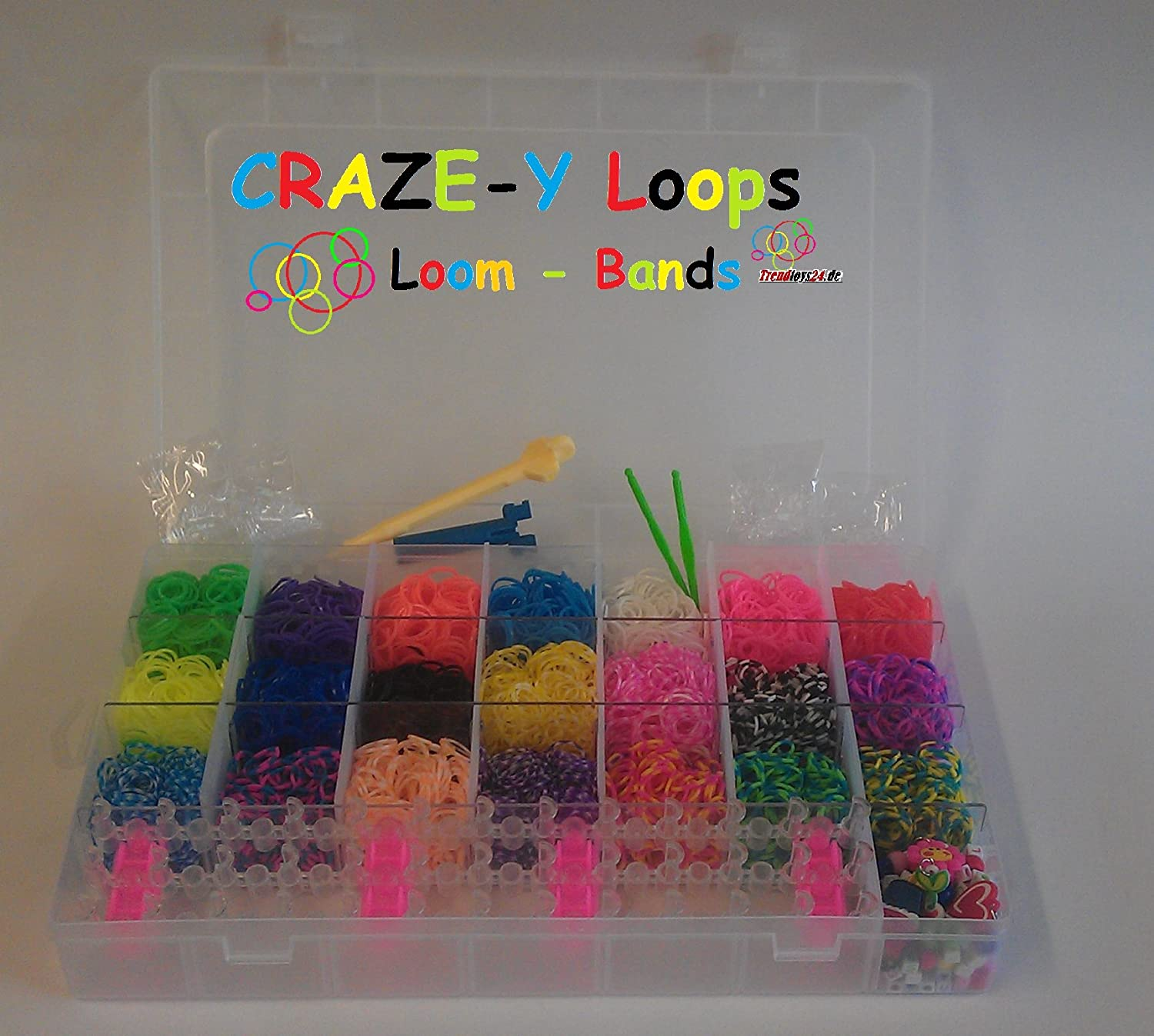 CRAZE-Y LOOPS Knüpfringe -Loom Bands