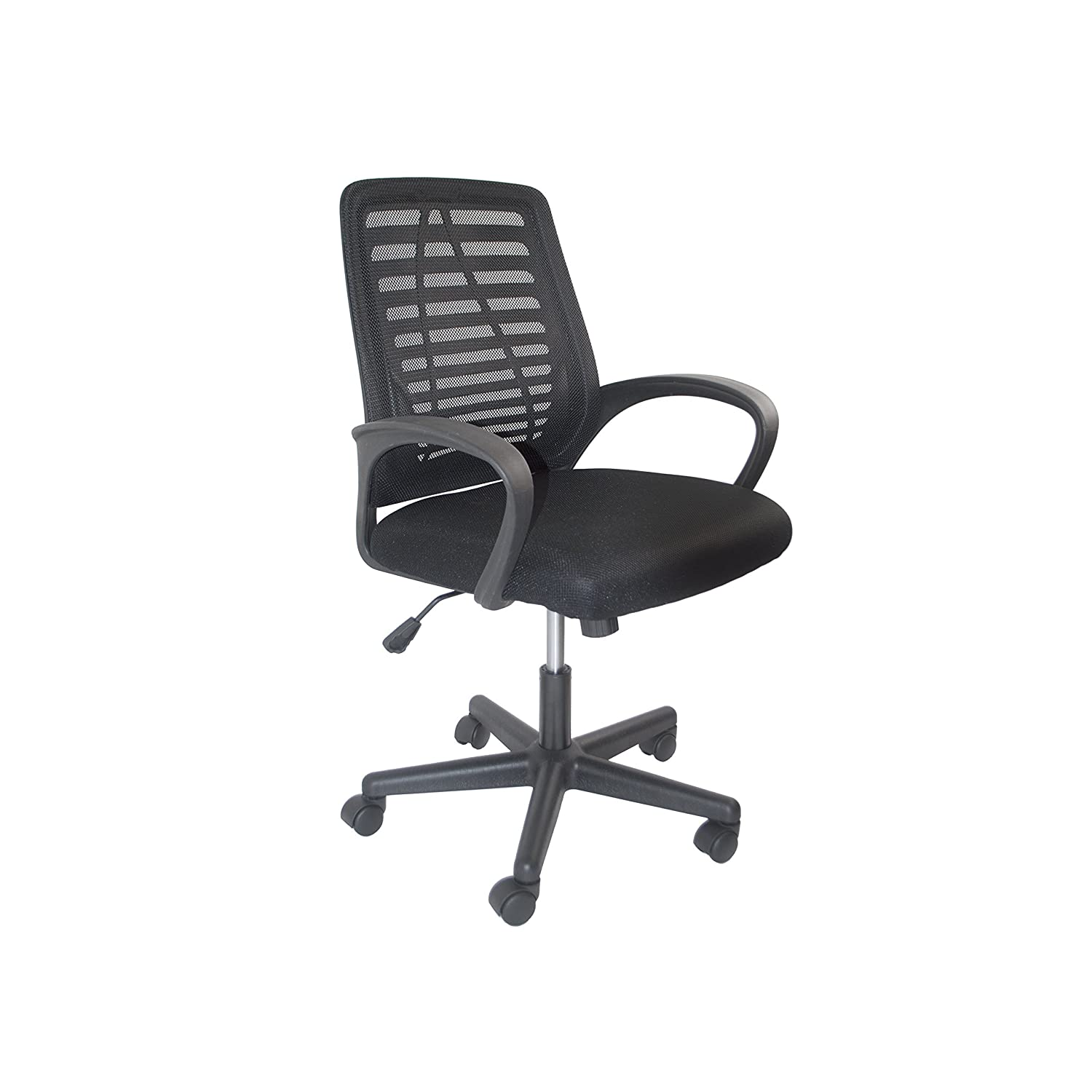 ALEKO ALCM815BL Ergonomic Office Chair, High Back Mesh Chair with Armrest, Black