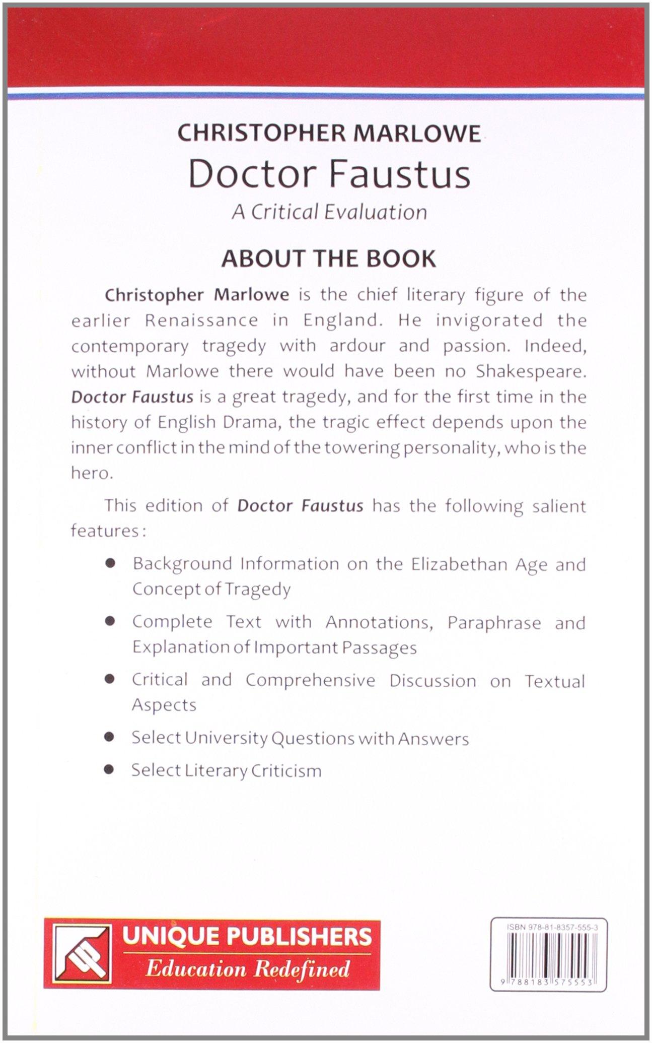 Literary analysis of doctor faustus