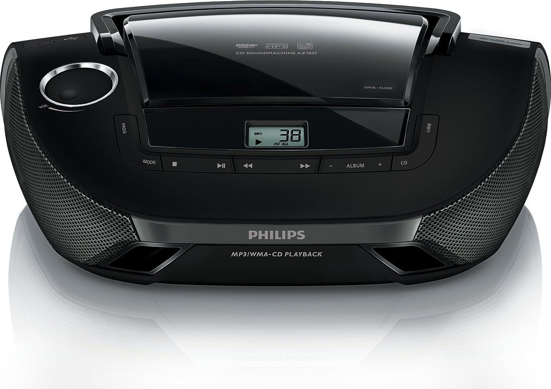 Radio Lecteur K7 CD et MP3 PHILIPS AZ1837 NOIR