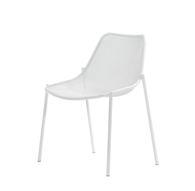 EMU Stapelstuhl Stuhl Metallstuhl Round (indisch braun)