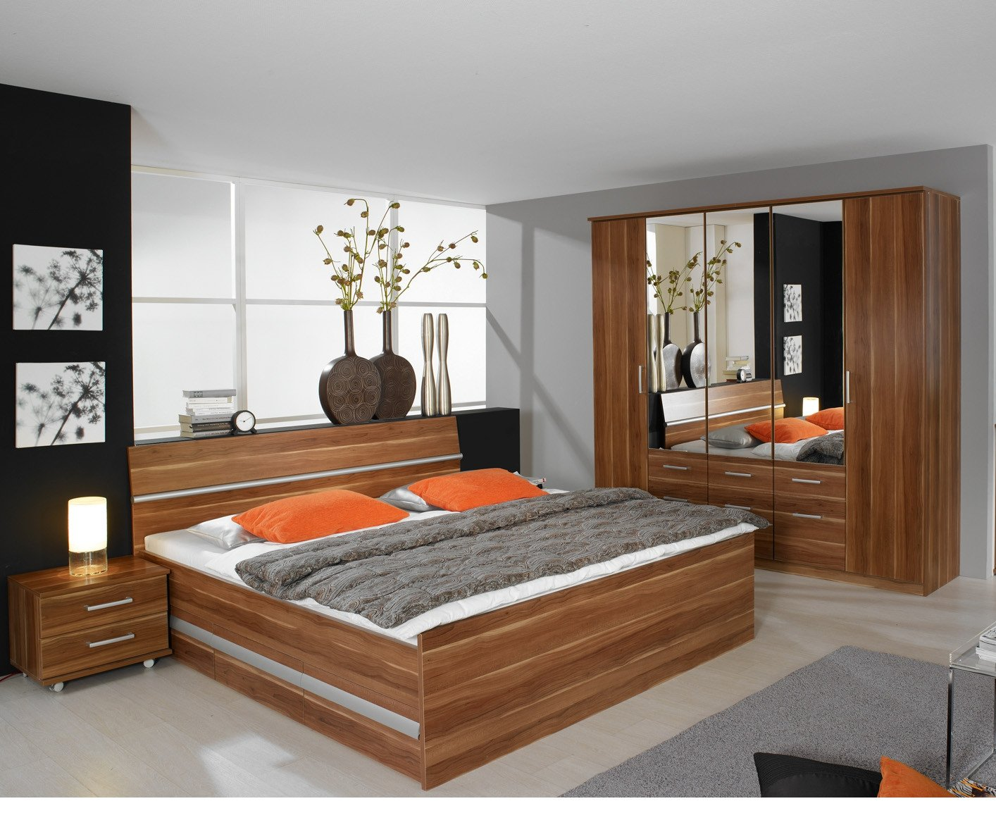 Schlafzimmer komplettset Kernnuss Dekor günstig