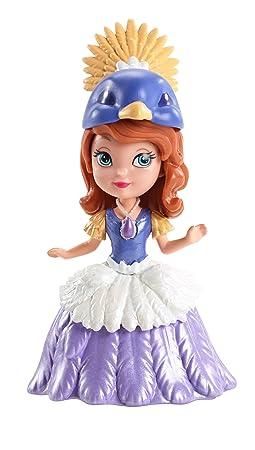 Disney - Princesse Sofia - Sofia Déguisé en Princesse - Mini Poupée 9 cm