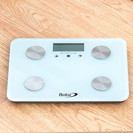 Babz Glass BMI Electronic Body Fat Bathroom Scale