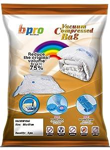 Bpro - Bolsas de almacenaje al vacío para ropa, edredones o almohadas (6 unidades, 80 x 60 cm)   Comentarios de clientes y más noticias