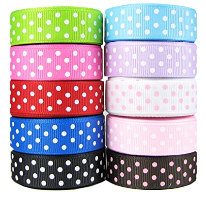 "50yd(10x5yd) 5/8"" Swiss Dot Ribbon"