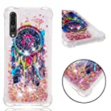 Huawei P20 Plus Case,Huawei P20 Pro Case,Tznzxm 3D Cartoon Design Quicksand Flowing Liquid Floating Bling Glitter Sparkle Lightweight Shockproof Protective Bumper for Huawei P20 Pro 2018 Dreamcatcher (Color: Dreamcatcher)