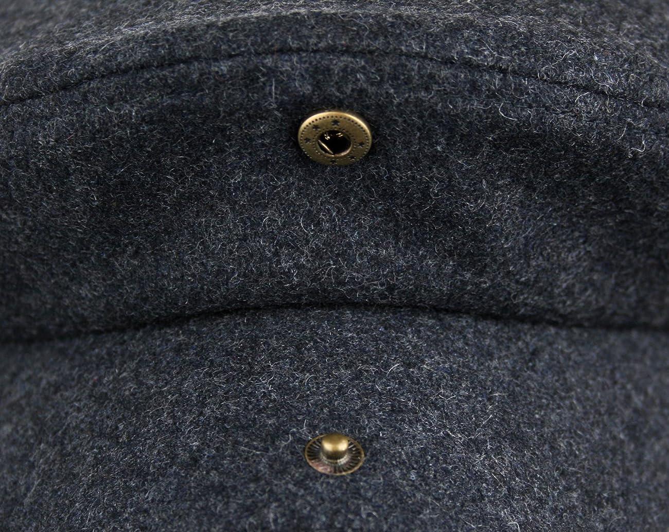 Men's 5 Panel Vintage Style Wool Blend Gatsby Ivy Newsboy Hat 6
