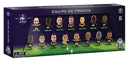 Soccerstarz - 400585 - Figurine Officielle - Sport - Equipe De France À La Coupe Du Monde - Pack De 15
