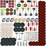 8MILELAKE Rotary Tool Accessory Set 116pc, 196pc, 350pc For Dremel Grinding, Sanding, Polishing (350PC)
