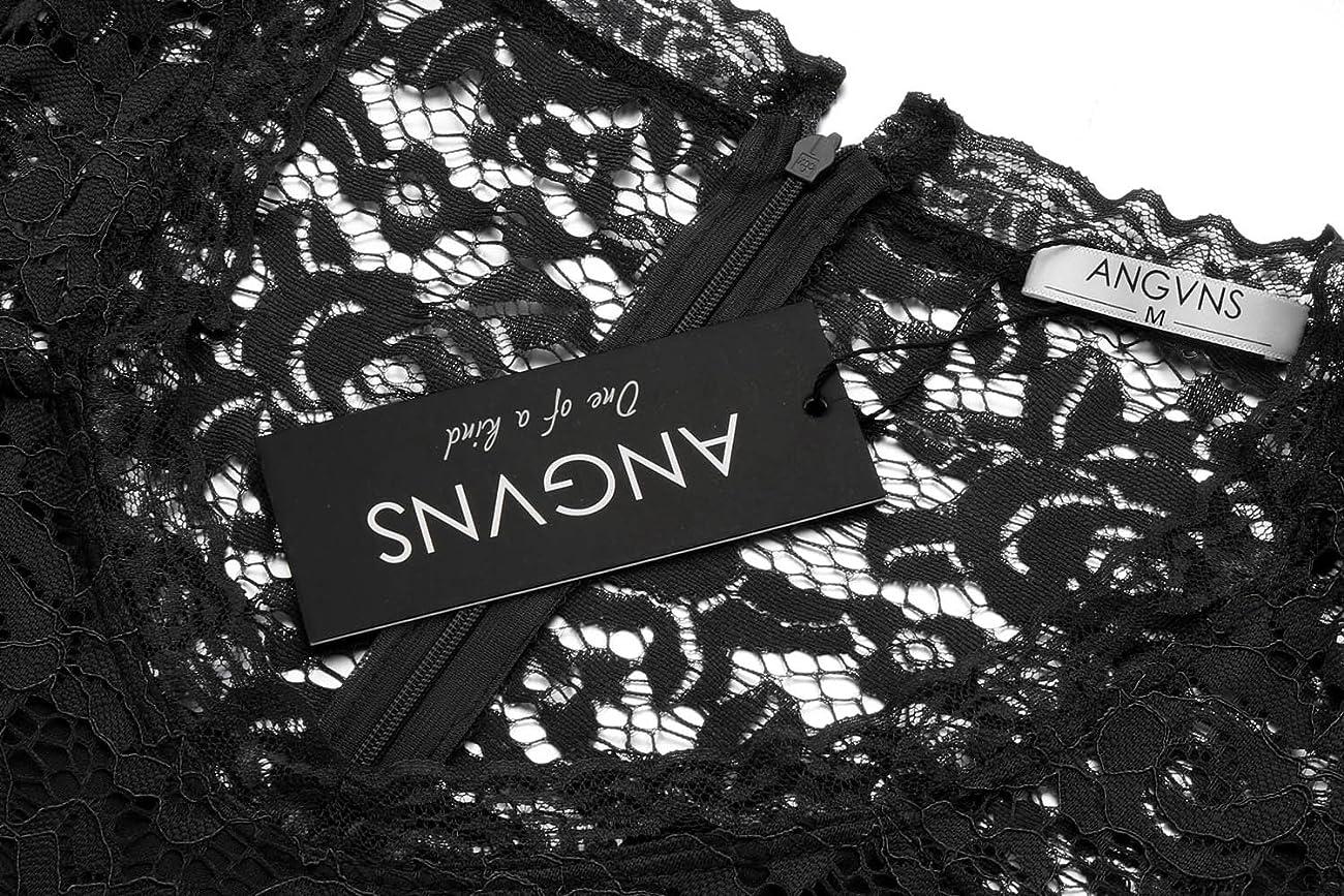 ANGVNS Women's Casual Deep- V Neck Sleeveless Vintage Maxi Dress 5