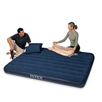 Queen Airbed with Two Pillows and Double Quick Hand Pump