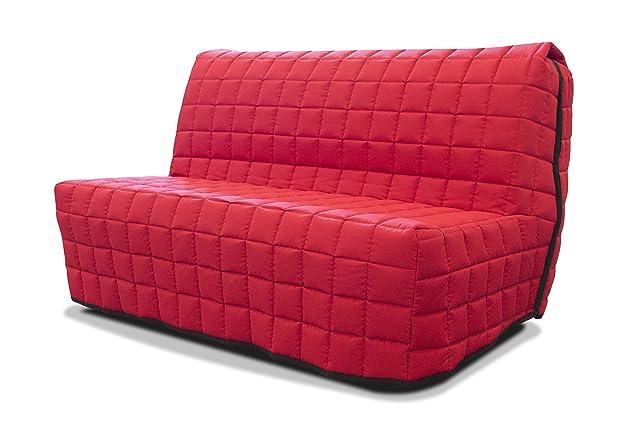 Divano Bz 2posti 140X 190–Rosso a quadretti