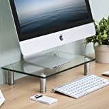 FITUEYES Clear Computer Monitor Riser Save Space Desktop Stand for Xbox One/component/flat Screen TV,DT103801GC (Color: Clear, Tamaño: DT103801GC)