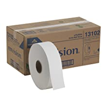 "Georgia-Pacific Envision 13102 White 2-Ply Jumbo Sr. Bathroom Tissue, 2000' Length x 3.5"" Width (Case of 6 Rolls)"