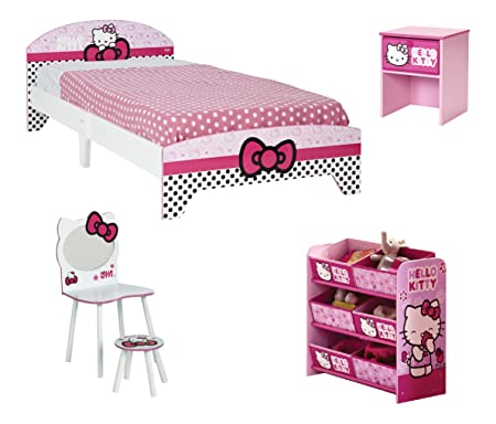 Hello Kitty 530249 Chambre Complète Bois Rose/Blanc 192 x 96 x 65 cm
