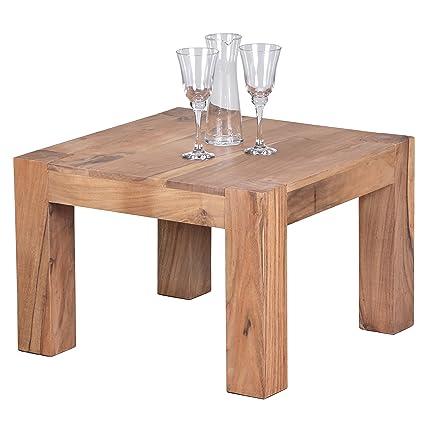 Wohnling wl1,443-Tavolino da caffè in legno di acacia, 60 x 60 cm