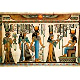 LFEEY 10x8ft Egyptian Papyrus Backdrop Coloring Ancient Egypt Parchment Hieroglyphic Gods Ramses Pharaoh Photo Background for Travel Vacation Photo Studio Props (Color: NBK00411, Tamaño: 10x8ft)
