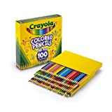Crayola Different Colored Pencils, 100 Count, Adult Coloring (Color: Vary, Tamaño: 1-Pack of 100)