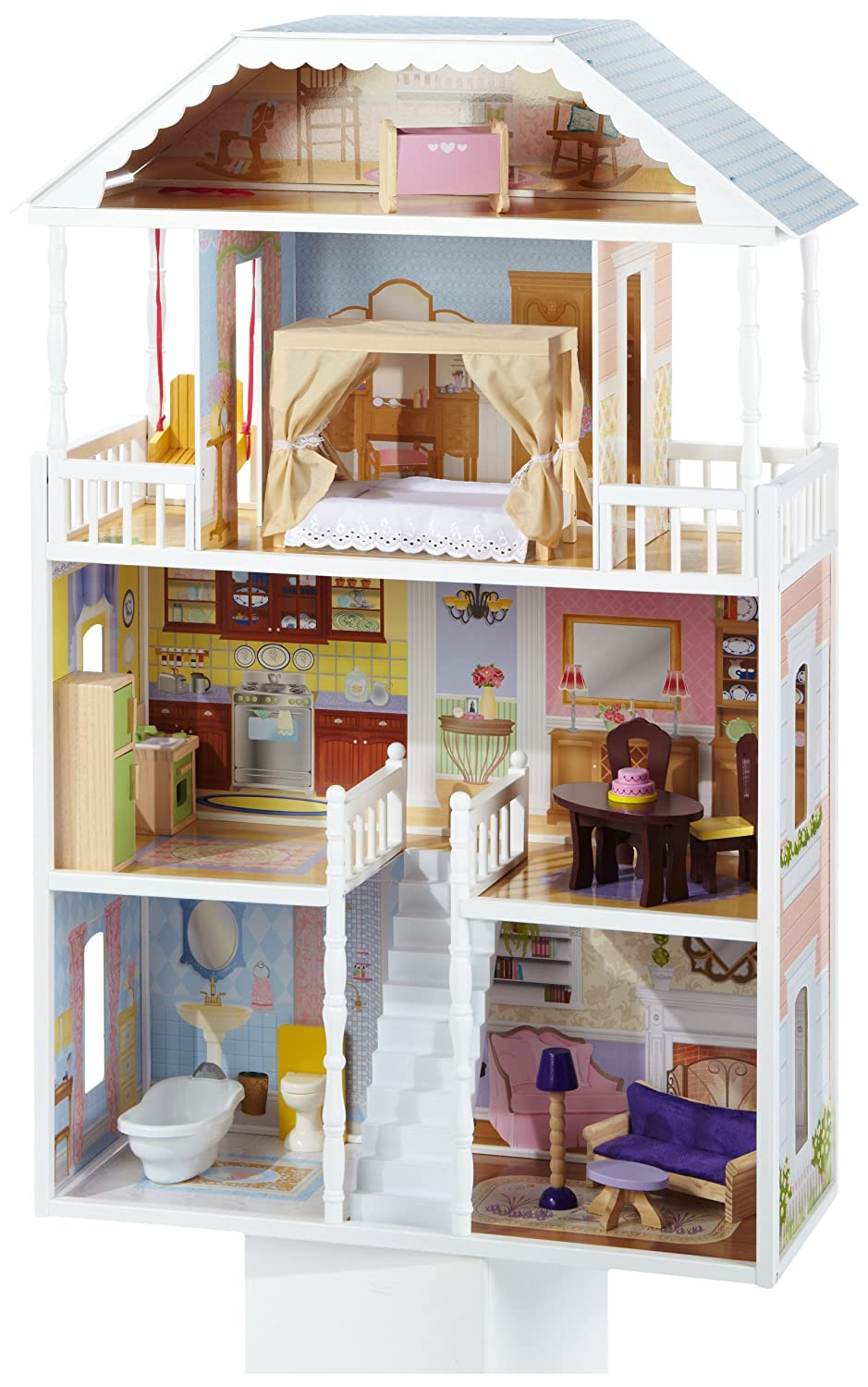 Kidkraft savannah dollhouse with furniture review - Maison poupee kidkraft ...