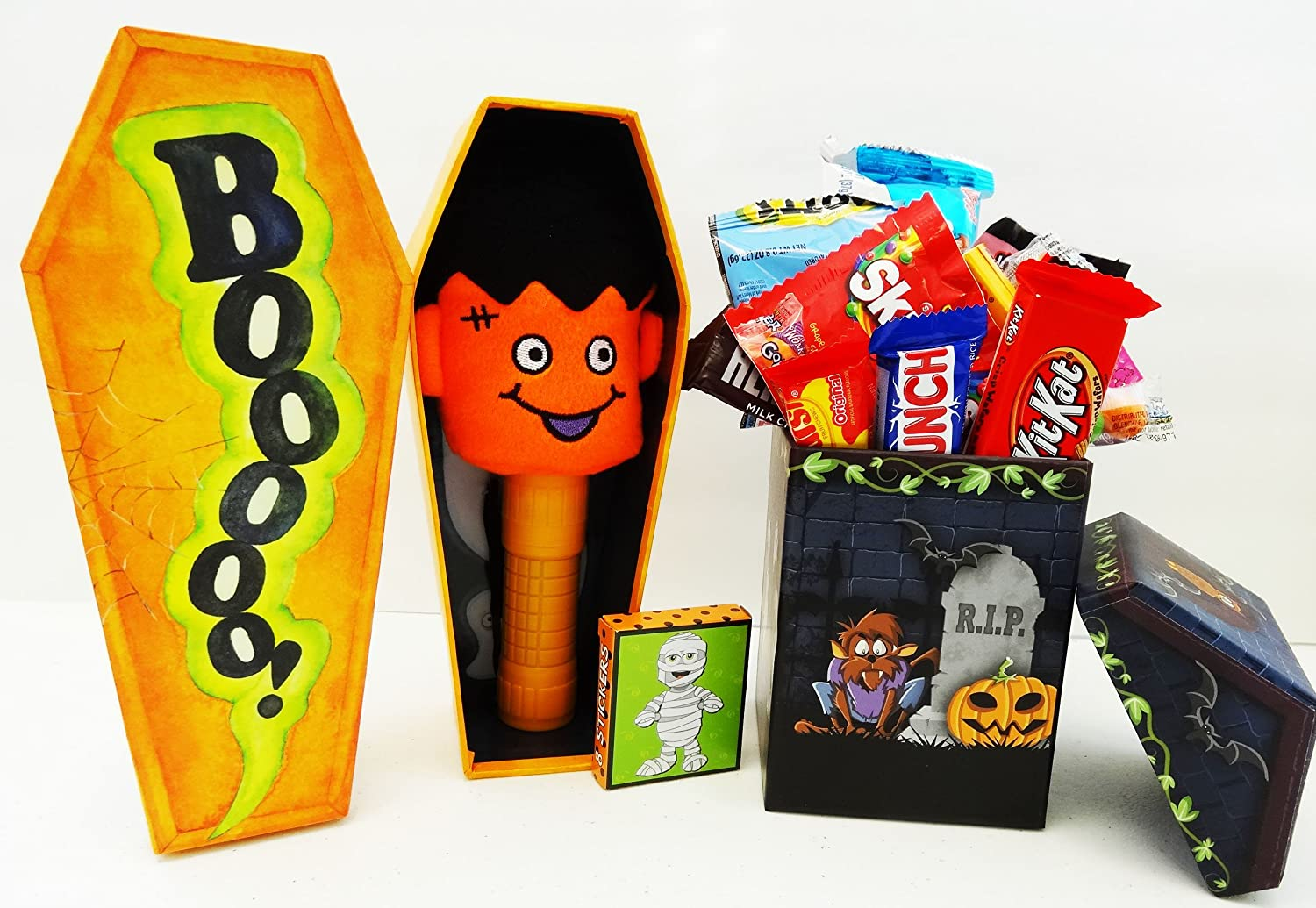 Unlocking Greatness You Are LOVED Halloween Gift Baskets: Frankenstein Coffin and Candy House