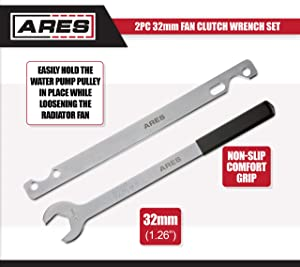 ARES 70074 | 2-Piece Fan Clutch Wrench Set | 32mm Fan Clutch