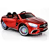 Dollys Shop Ride On Toys - Electric 12V Mercedes Benz Car for Kids - 12V Battery Remote Control Car - Ride On Car for Kids - MP3 LED Wheels MP4 Touch Screen (Color: Red)