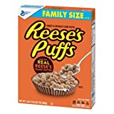 Reese's Peanut Butter Puffs, Cereal, Family Size, 20.7 oz Box