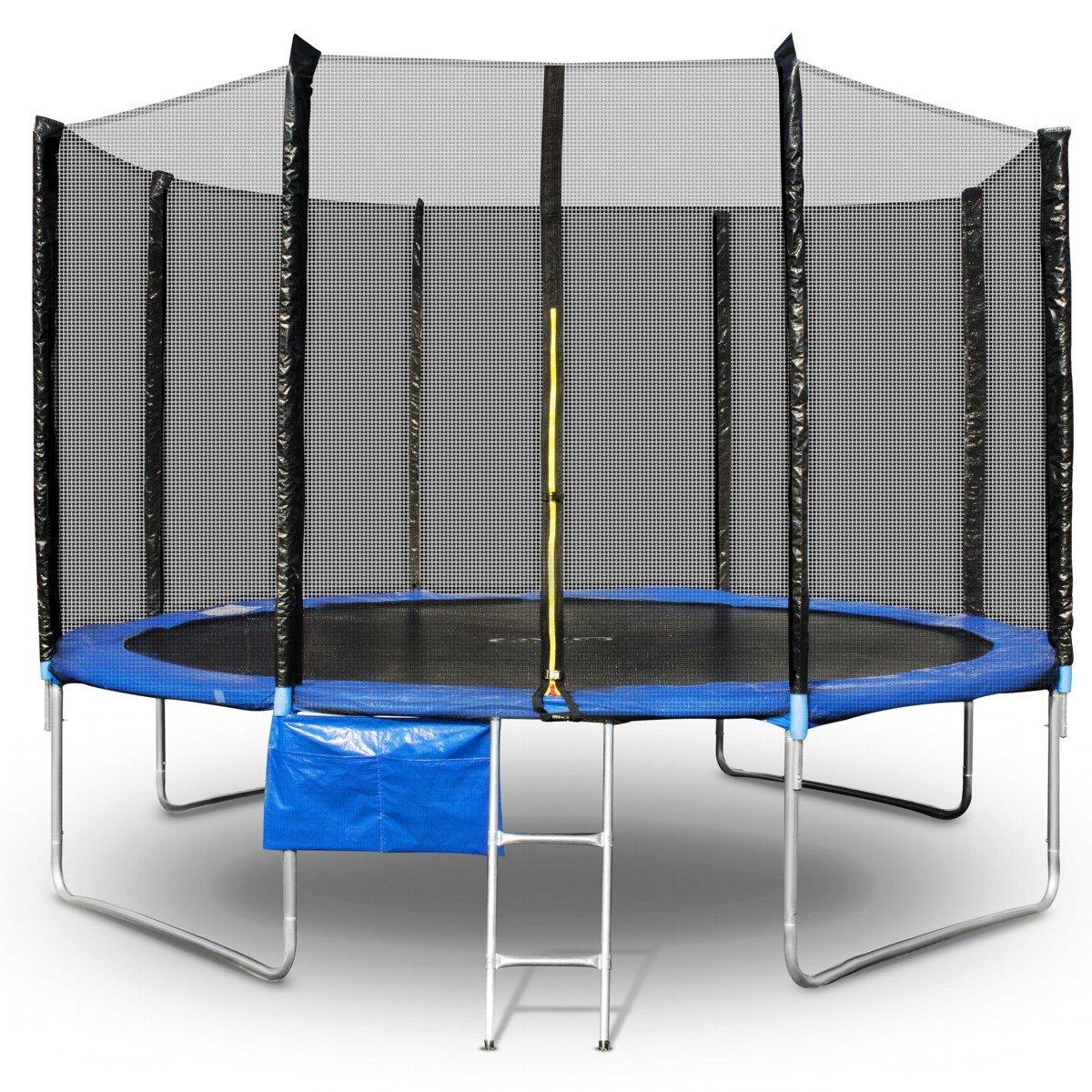 Trampolin Gartentrampolin 244 cm bis 366 cm Komplettset mit Sicherheitsnetz Leiter Tasche jetzt bestellen