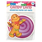 Eureka Candy Land Assorted Paper Cut-Outs, 12 Each of 3 Different Designs, 36-Piece (Color: Candy Land, Tamaño: Original Version)