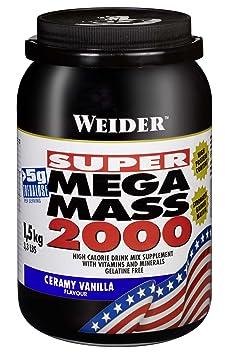 Weider Mega Mass 2000, Vanille, 1,5kg Dose