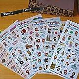 Estone® Cute Anne's Travel Diary Scrapbook Decoration Photo Korean Stickers (10set) (Color: mixed color, Tamaño: 10set)