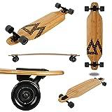 Magneto Longboard - Bamboo Drop Through Carving Longboard Skateboard (Color: Bamboo Carving Longboard Skateboard)