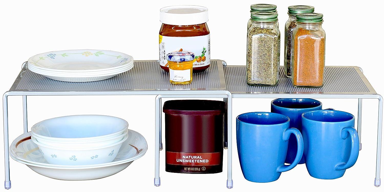 Counter Shelf Organizer Kitchen Storage Expandable