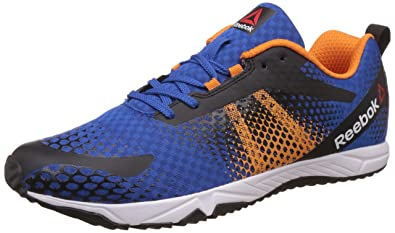 Reebok Men's Blaze Run 1.0 Awesome Blue, Black, Nacho and White Running Shoes