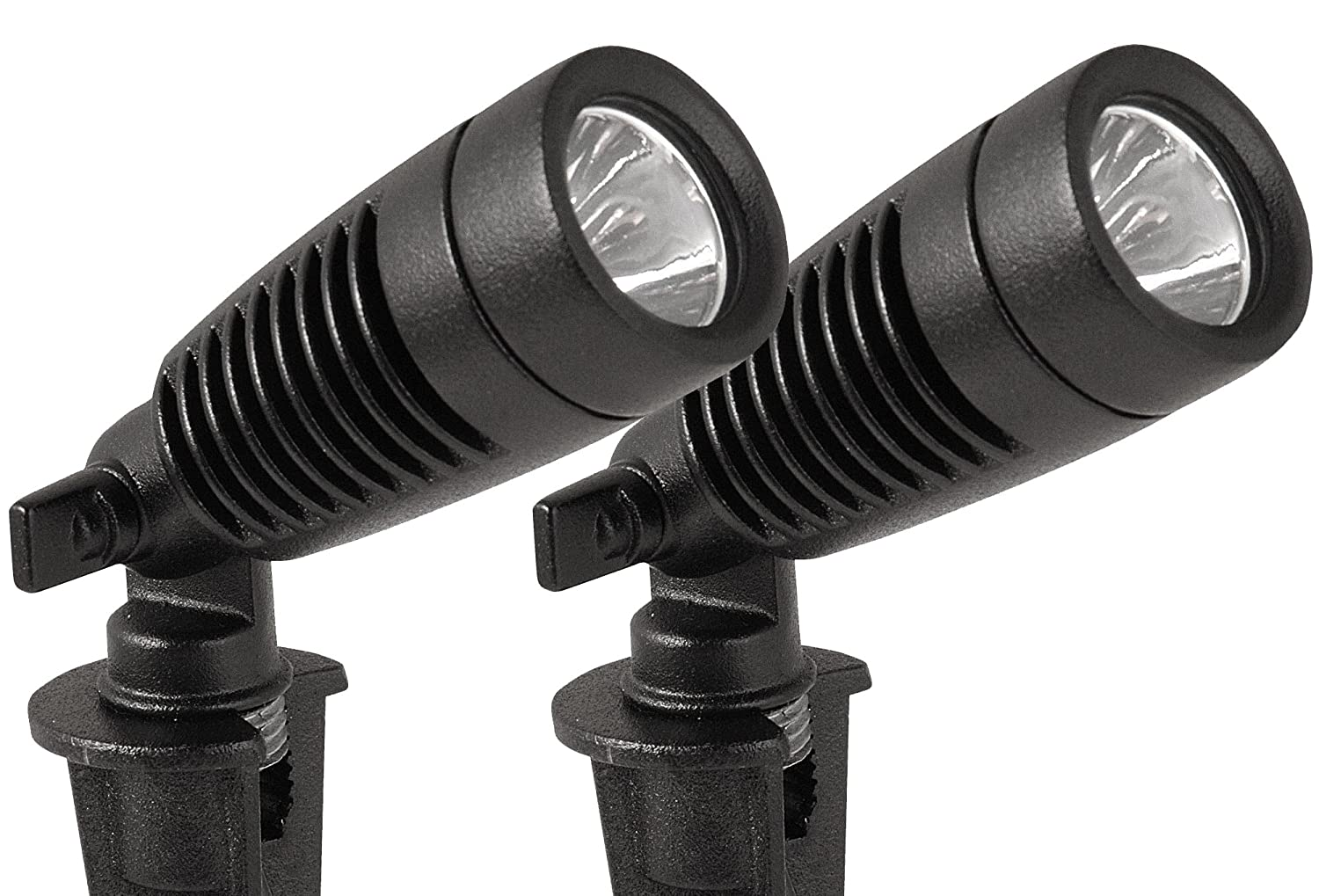 moonrays 95557 led outdoor landscape metal spot light fixture 2 pack black 1 ebay. Black Bedroom Furniture Sets. Home Design Ideas