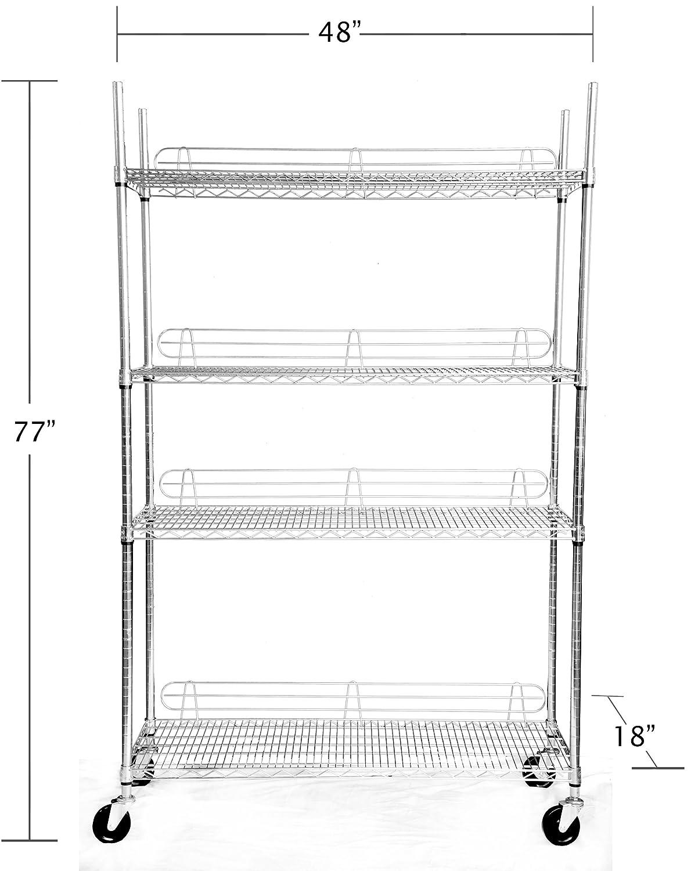 Pantry Shelves on Wheels Shelving Rack With Wheels