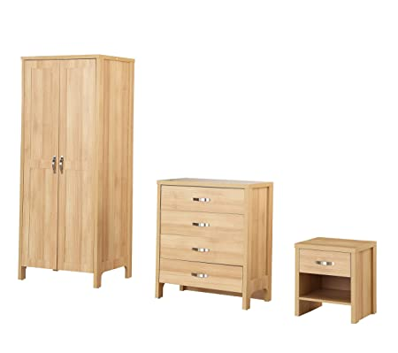 Sen Furniture Oxford Trio Set, Oak Brown