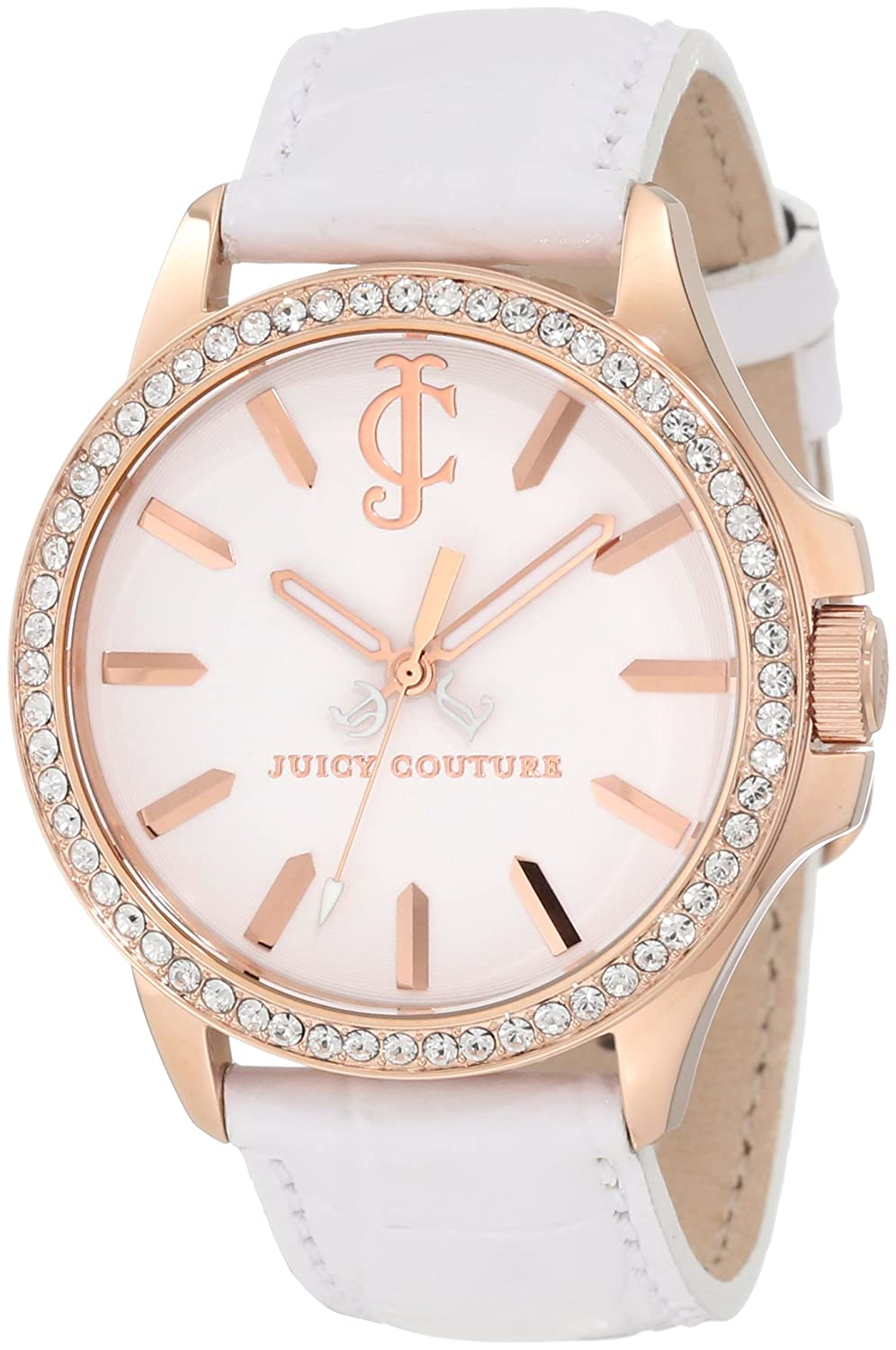 Juicy Couture Women's 1900968 Jetsetter White Leather Strap Watch moschino couture сандалии