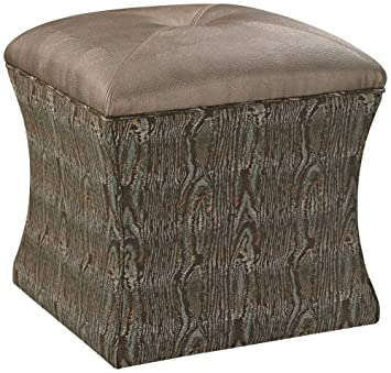 Sterling Industries Luxe Transitional 18 Inch Ottoman in Brown and Green
