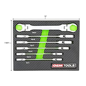 6 Piece Flex Head Flare Nut Wrench Set - Metric (Tamaño: Metric)