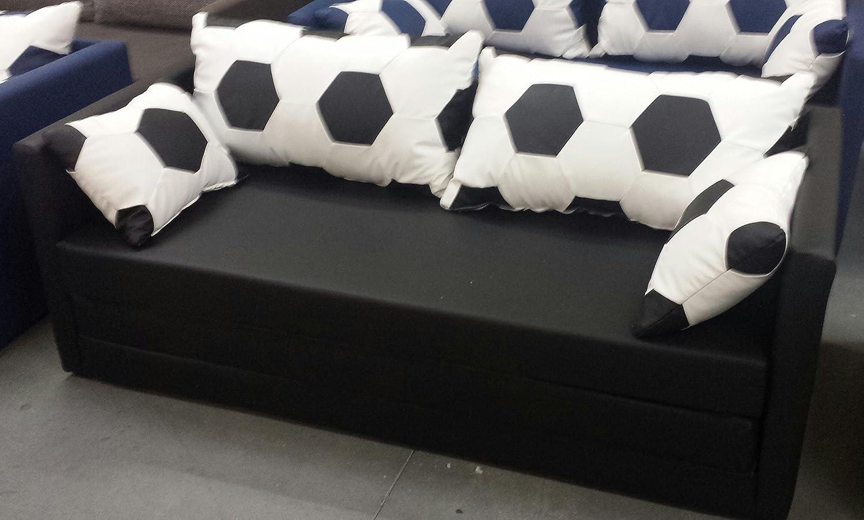 Fussball Sofa 160 XL weiss/schwarz kaufen