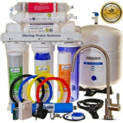 iSpring RCC7AK 6 Stages 75GPD Under Sink Water Filter System